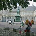 exterior of Noordeinde Palace, one of the four official palaces of the Dutch royal family and in use as the 'working palace' for King Willem-Alexander; The Hague, Netherlands
